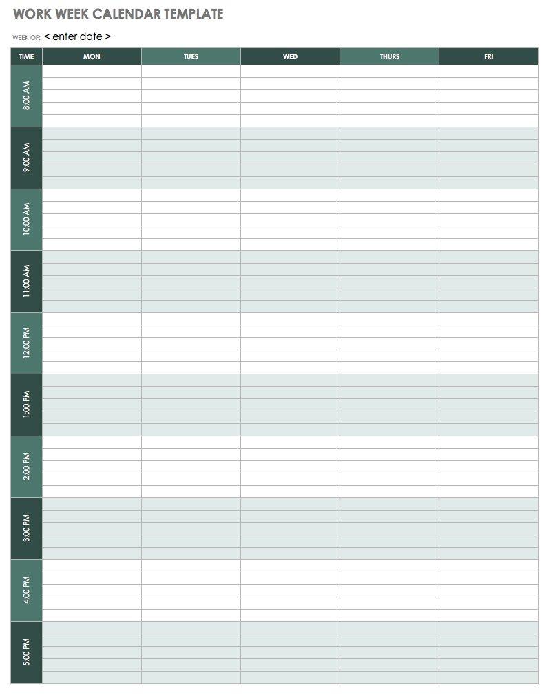 002 Template Ideas Ic Work Week Calendar Weekly Phenomenal