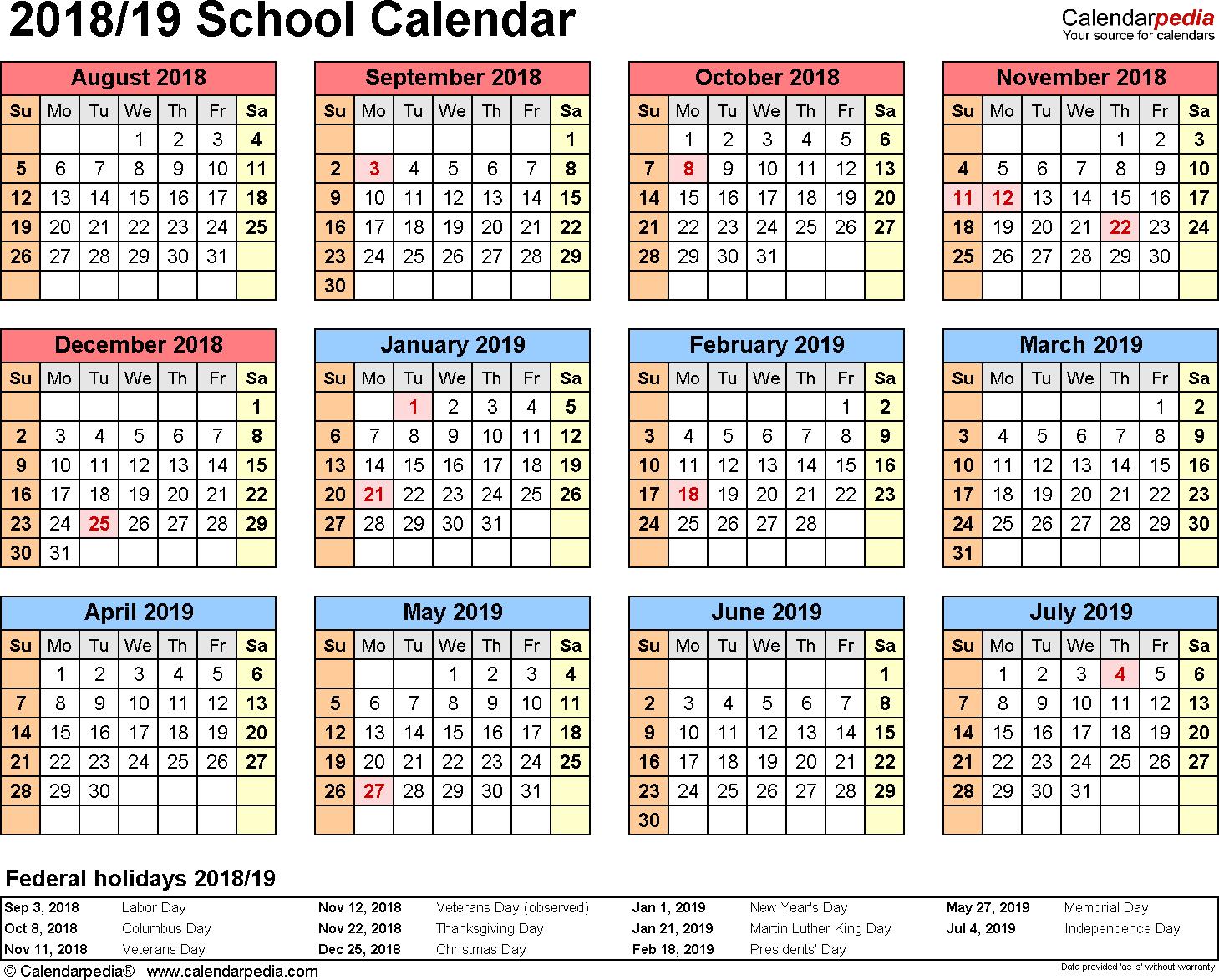 006 School Year Calendar Template Ideas Awesome Excel