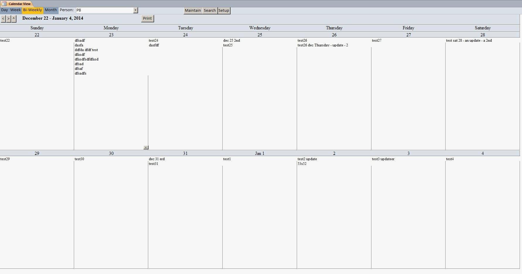 009 Week Calendar Elegant Two Blank Template Printable Of