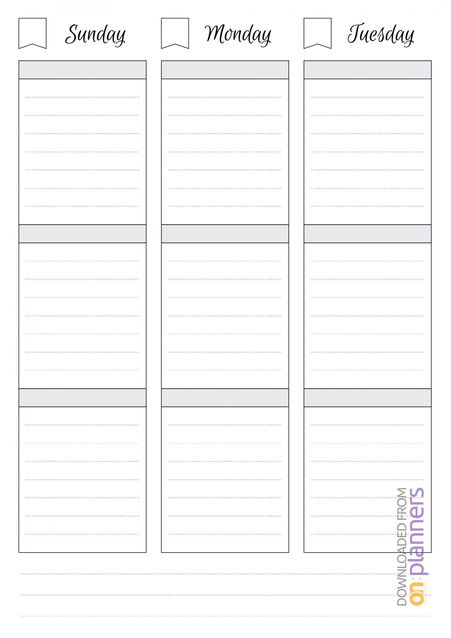 018 Printable Undated Weekly Schedule Template Imposing