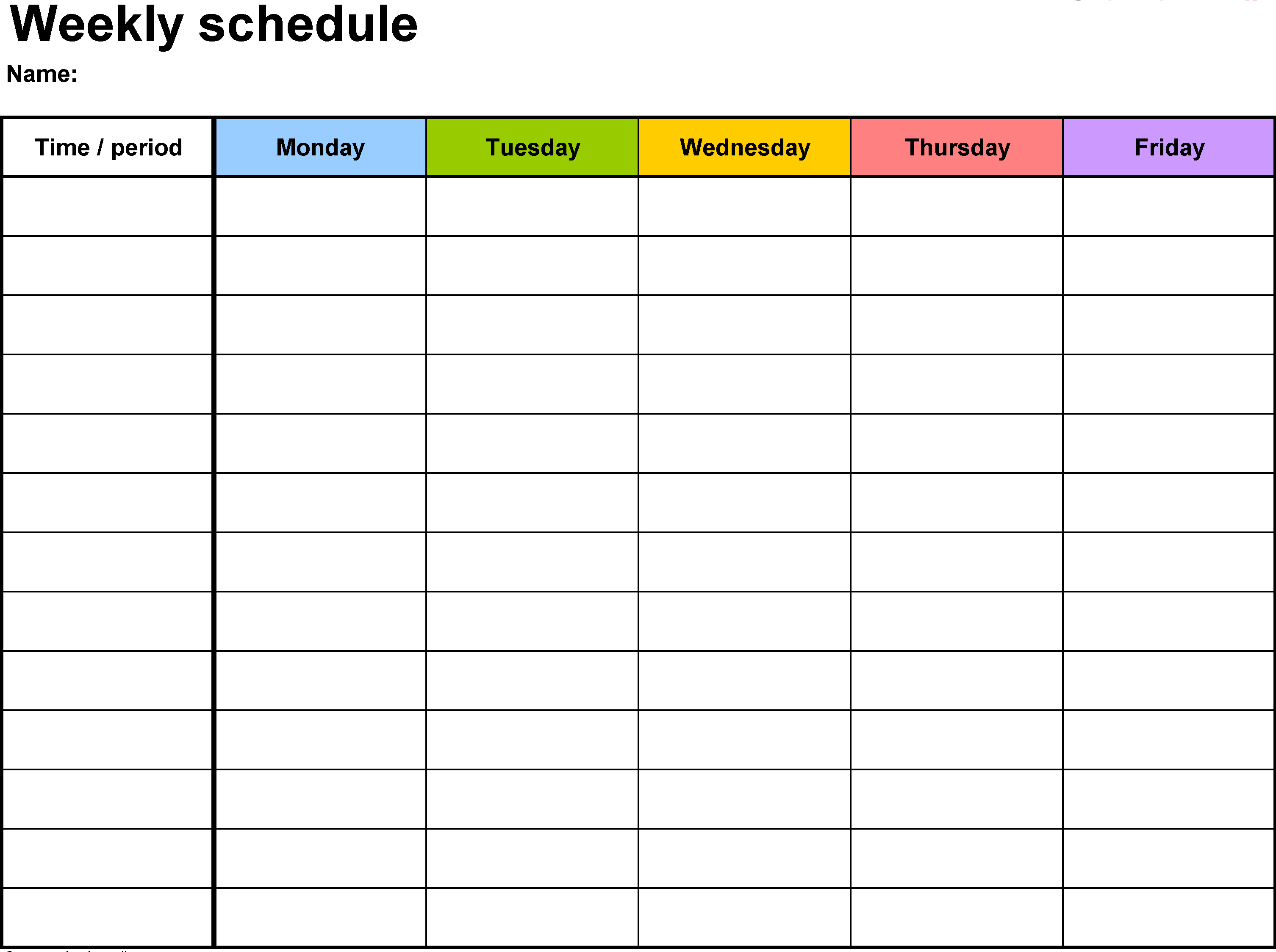 024 Excel Weekly Calendar Template Magnificent Ideas 2018