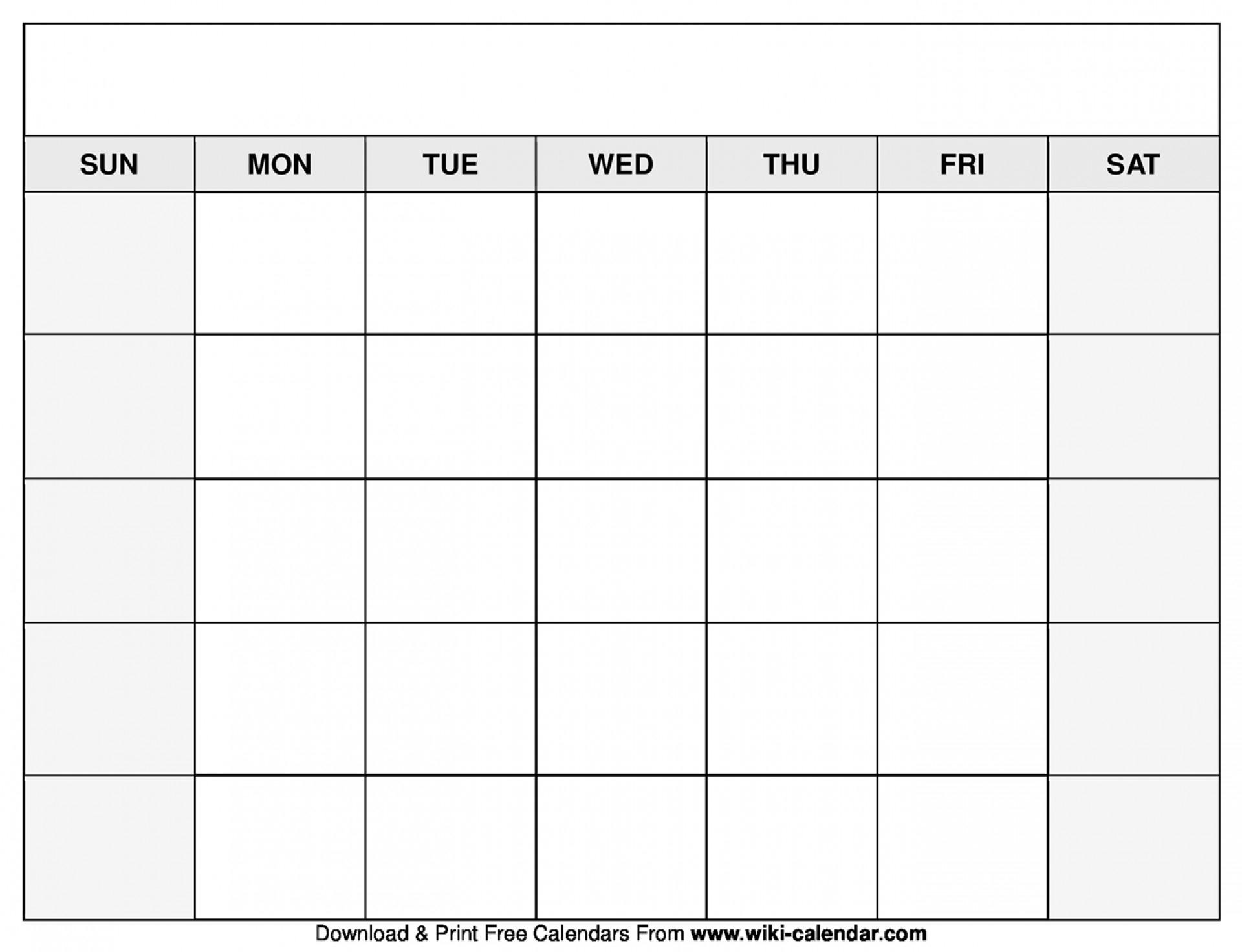 033 Free Blank Calendar Template August Printable Singular