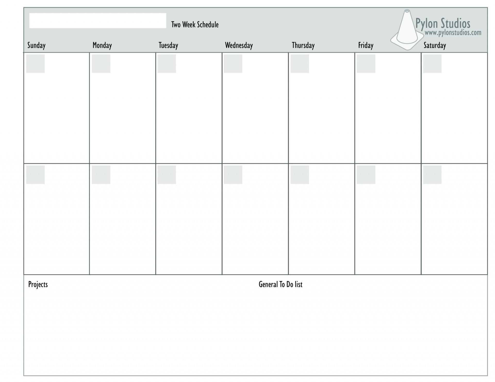 041 Week Printable Calendar Weekly Planner Template Of Two