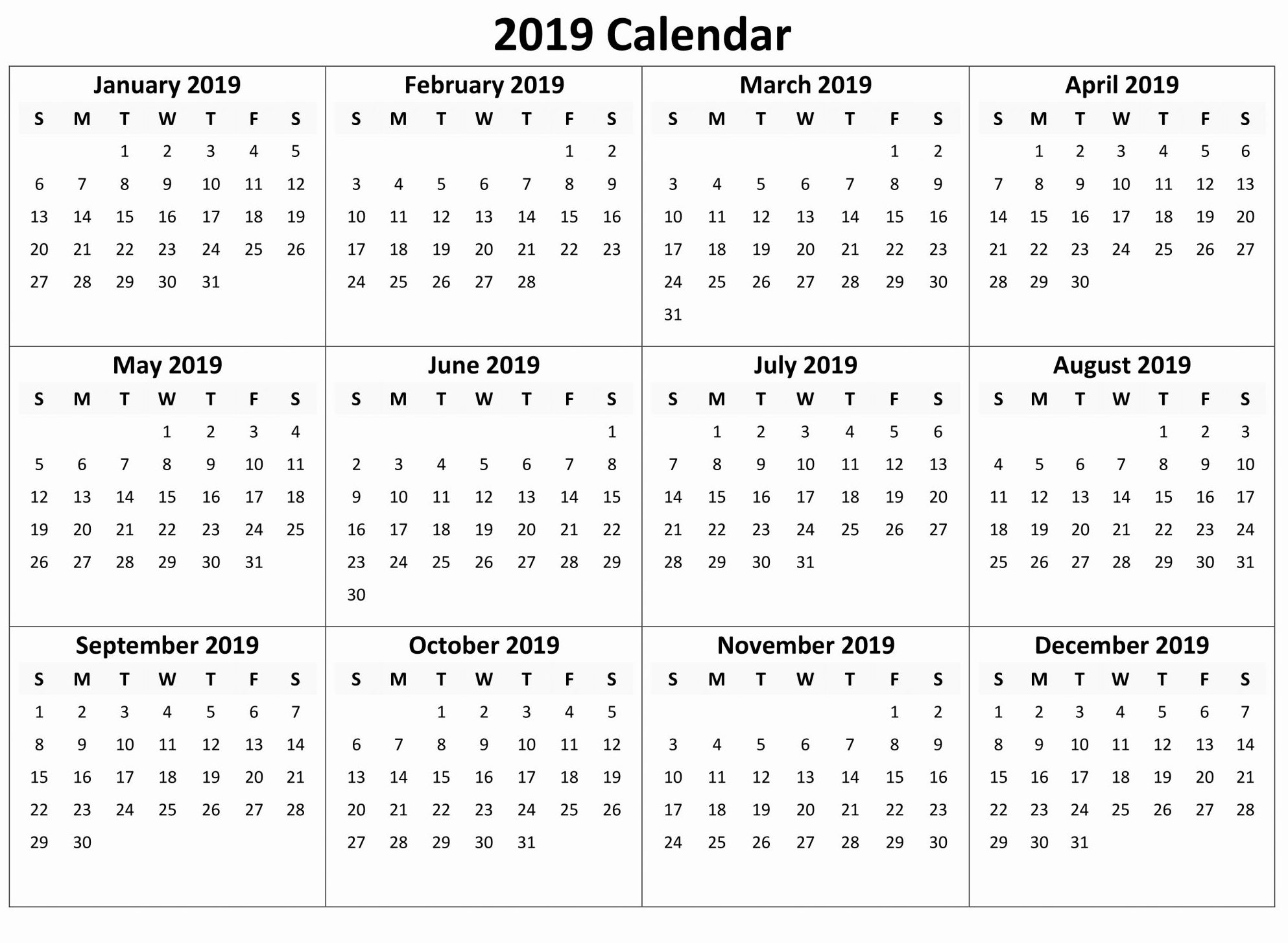 044 Yearly Calendar Free Download Month Template Marvelous