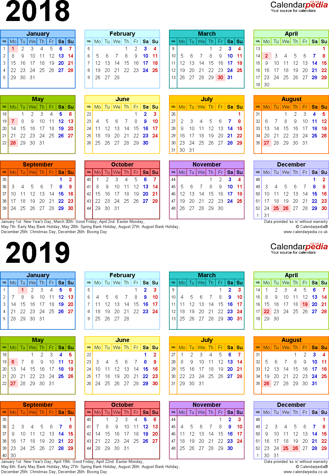 2 Year Calendars - Wpa.wpart.co