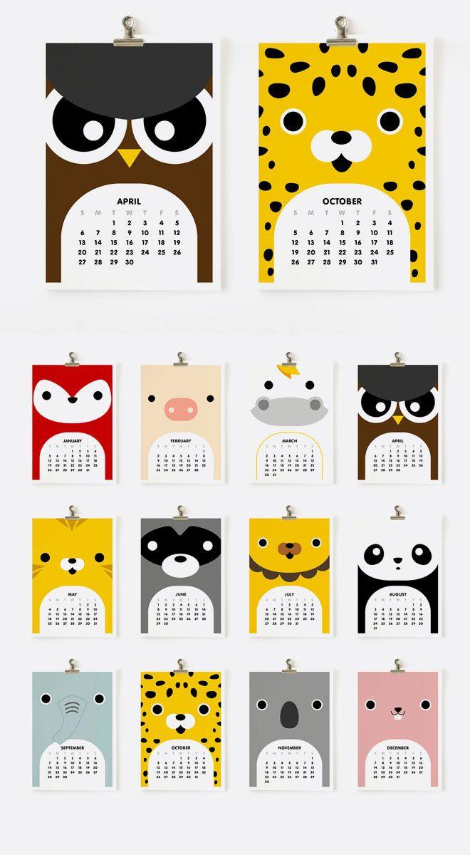 2014 Calendars | Creative Calendar, Calendar Layout, Art