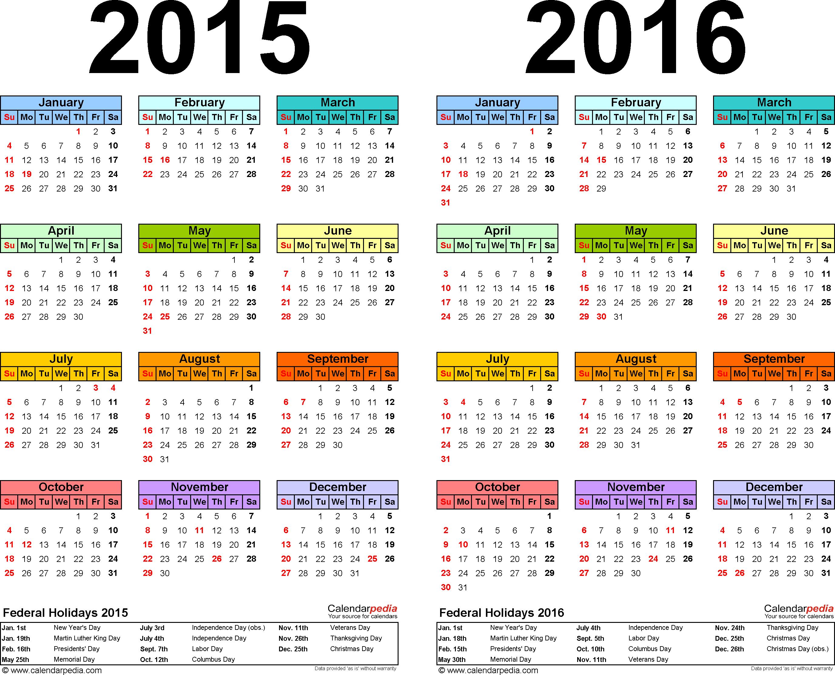 2015 Full Year Calendar - Wpa.wpart.co