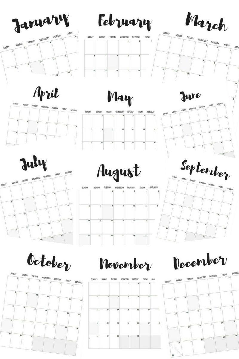 2017 Calendars: Free Printables | Calendar 2017, Free
