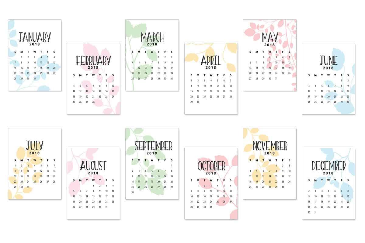 2018 Calendar Journal Cards - Love Paper Crafts