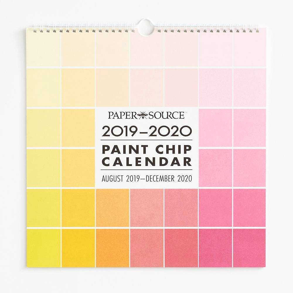 2019-2020 Paint Chip Calendar In 2019 | Paint Chip Calendar