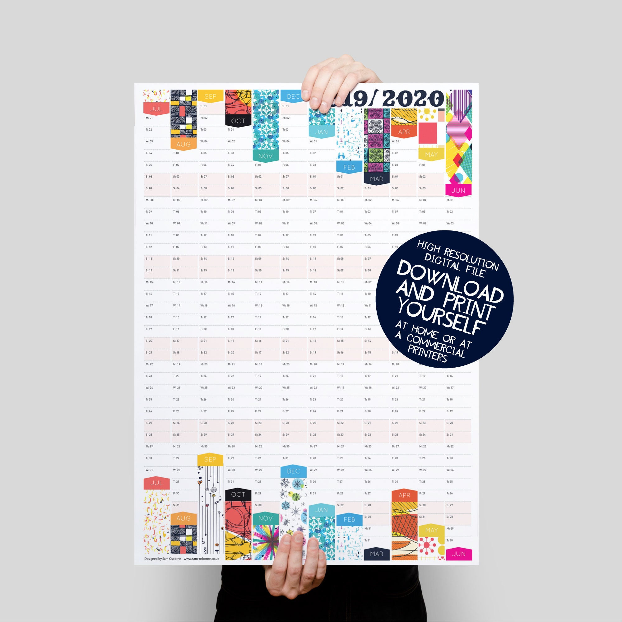 2019 2020 Planner, Academic Calendar, College Calendar, Student Planner,  Teacher Planner
