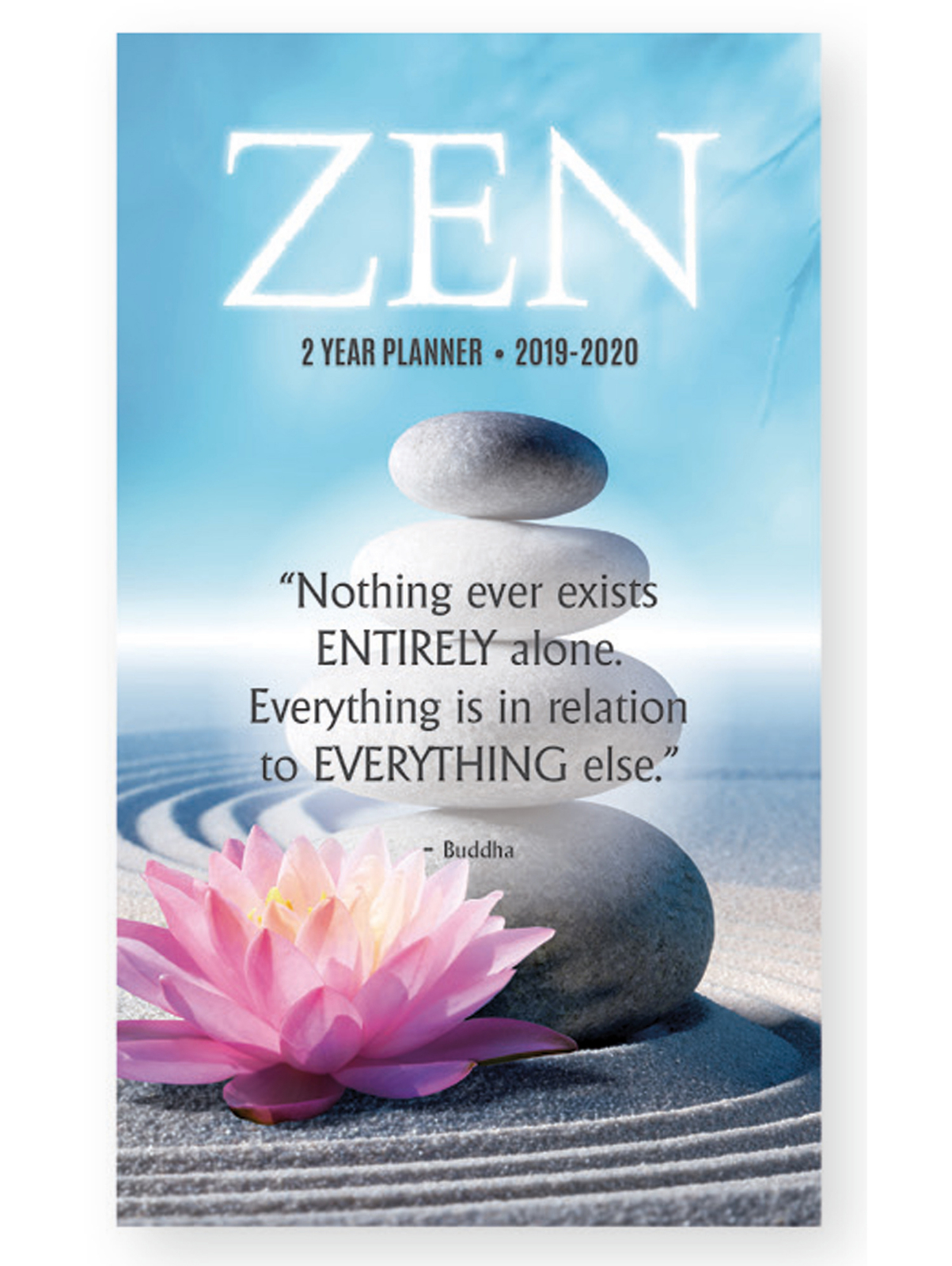 2019 - 2020 Zen Planner 2 Year Monthly Pocket Calendar Appointment Book