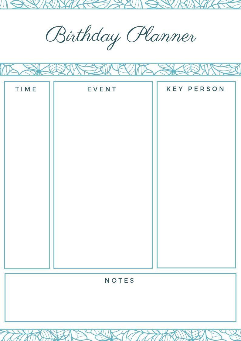 2019 Birthday Planner | Family Planner Calendar, Family