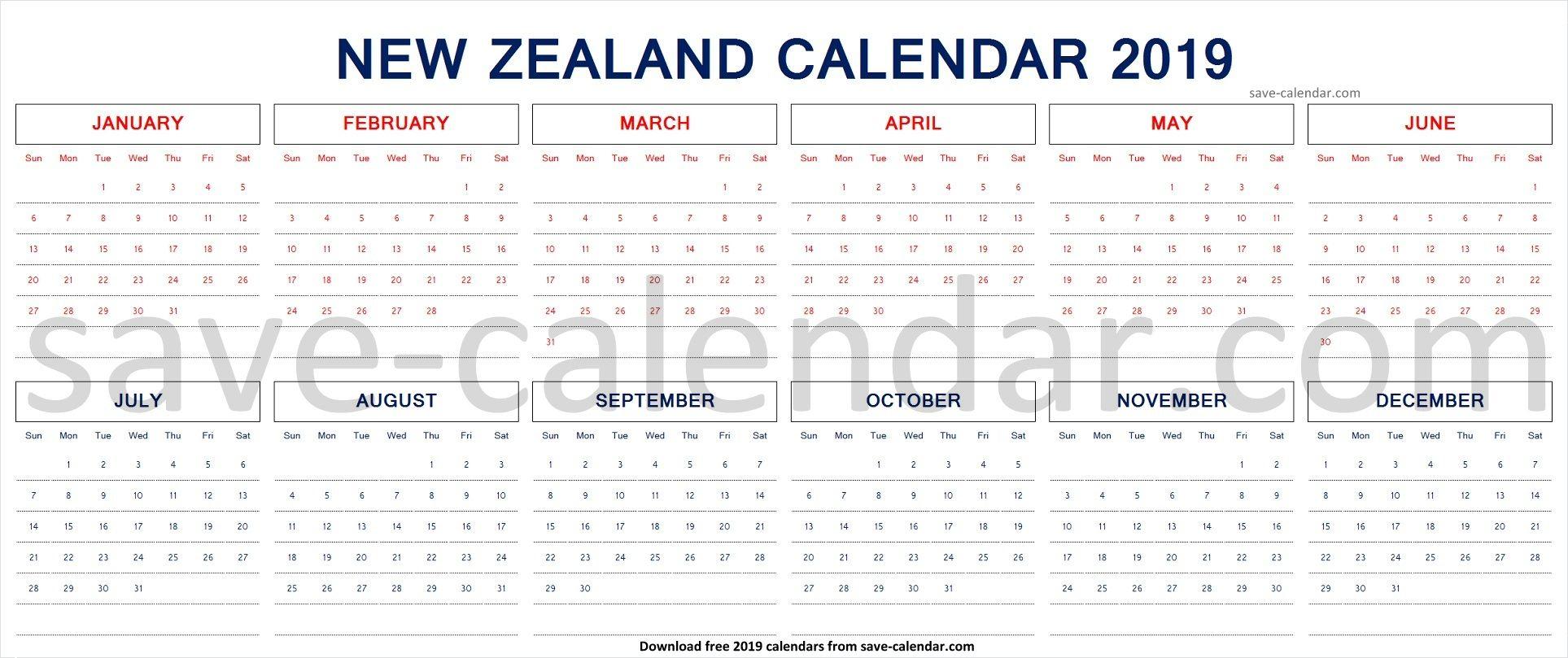 2019 Calendar Nz With Public Holidays | 2019 Calendar