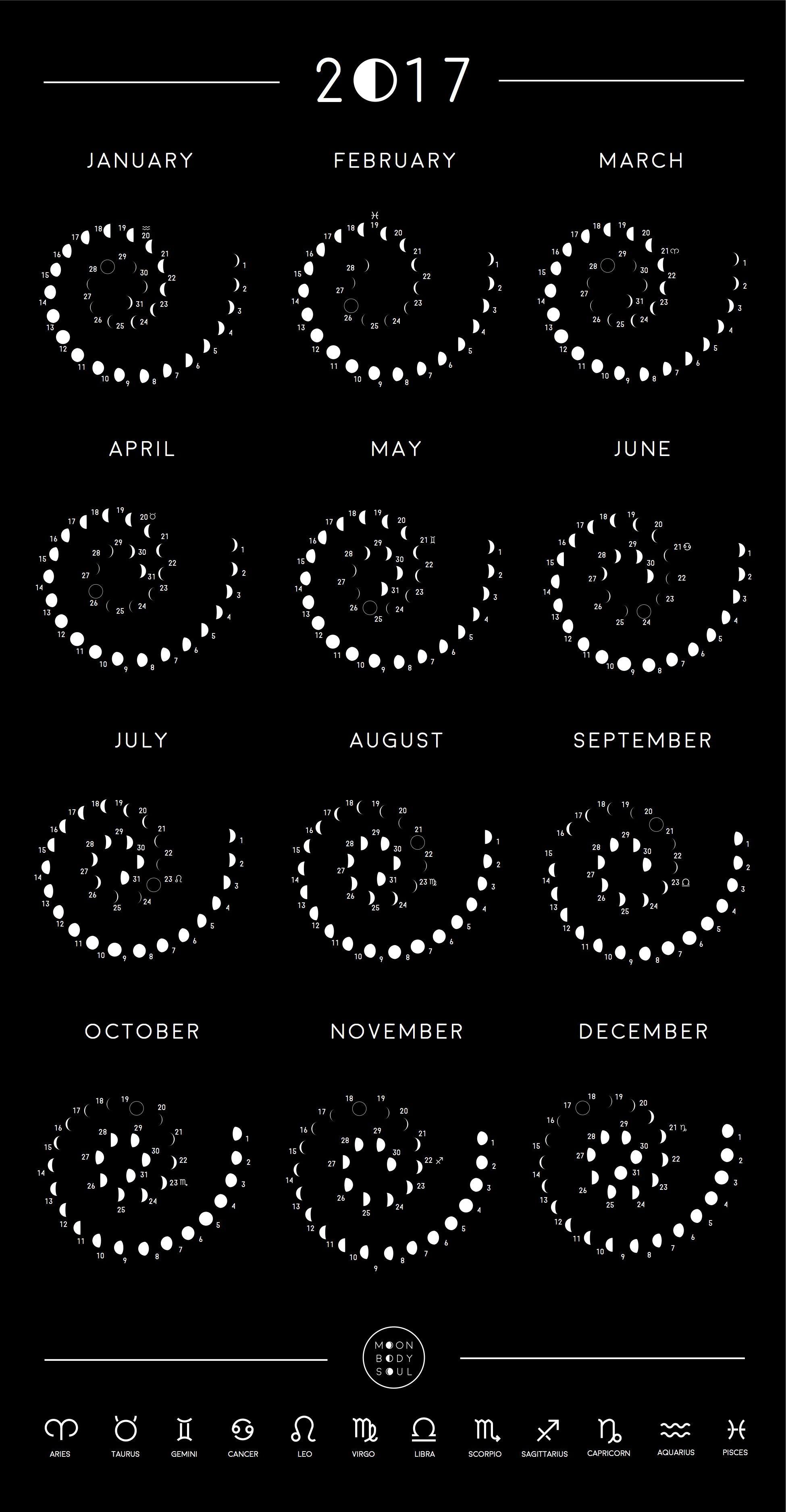 2019 Moon Phase Calendar | Moon Phase Calendar, Moon Phases