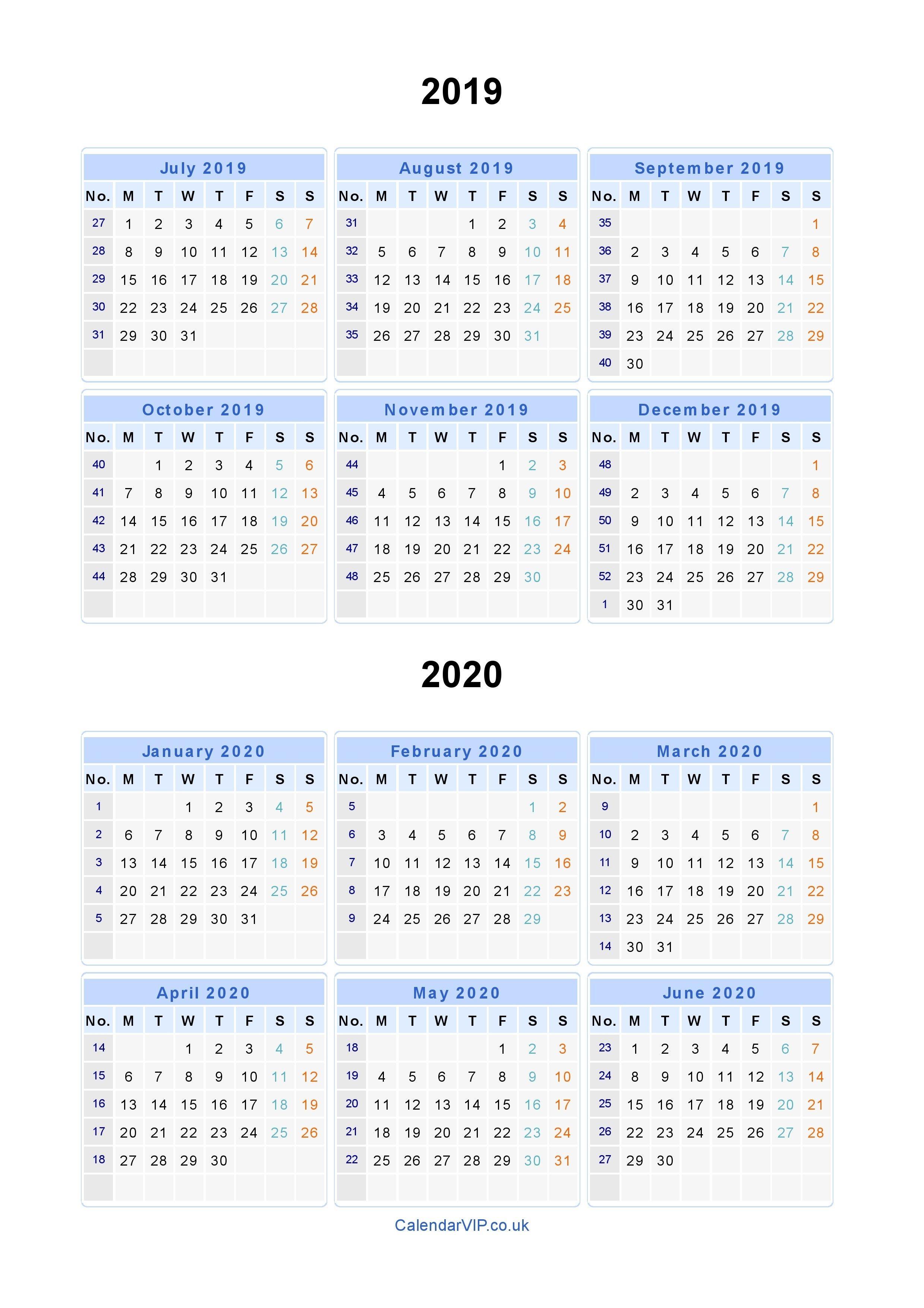 2020 2020 School Calendar Template - Wpa.wpart.co