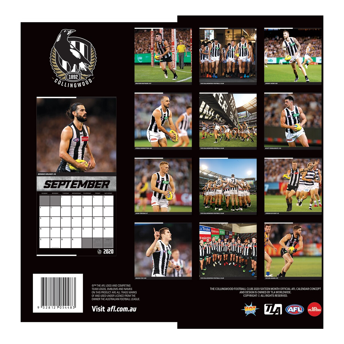 2020 Afl Collingwood Calendar