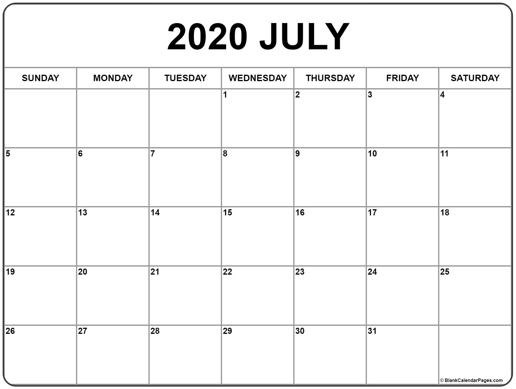 2020 And 2015 Blank Calendar Printable - Wpa.wpart.co
