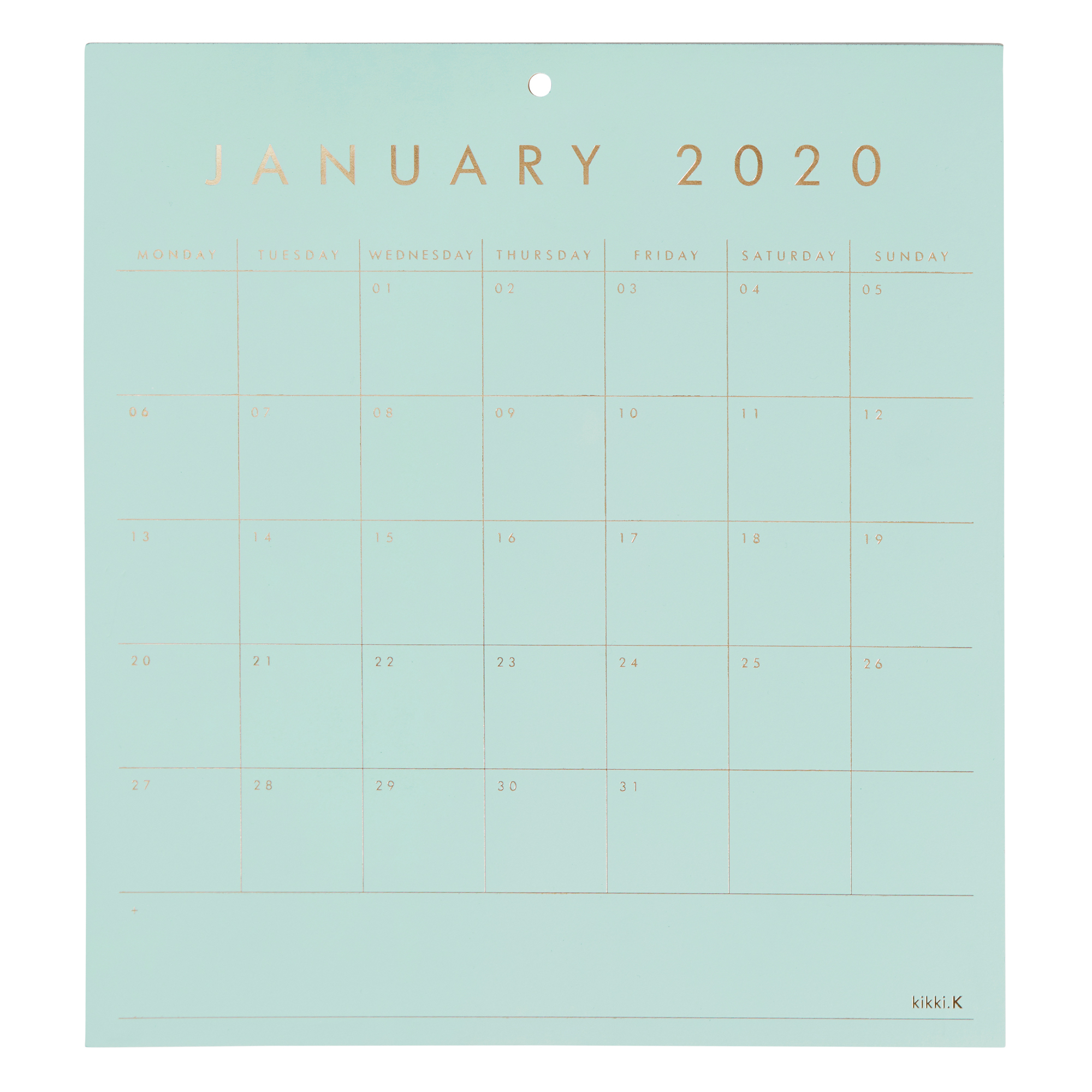 2020 Calendar Pad: Essentials