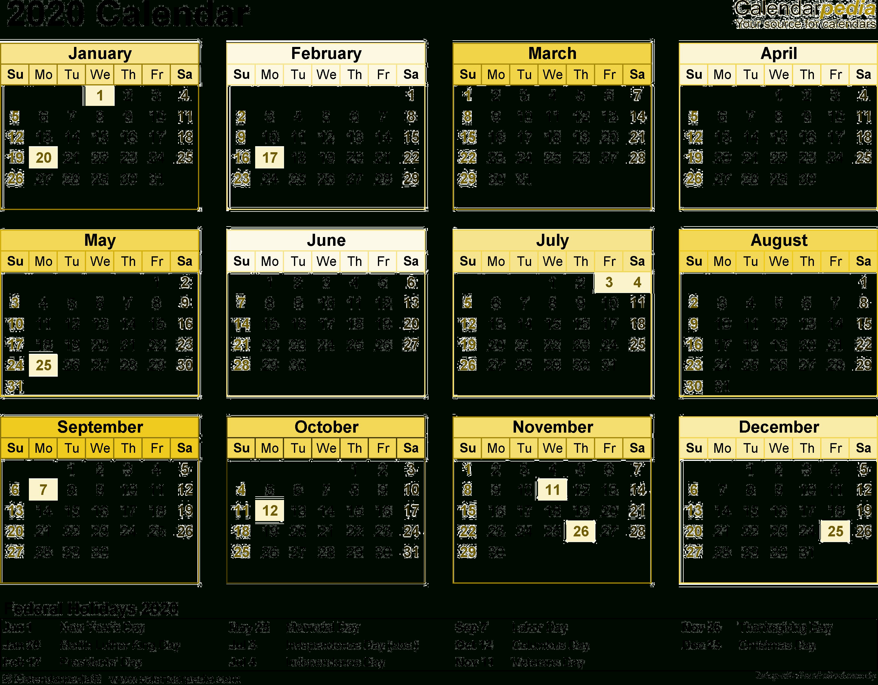 2020 Calendar Png Transparent Images | Png All