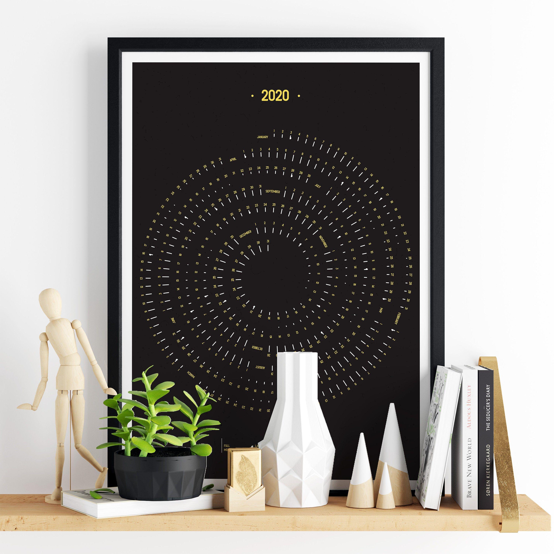 2020 Calendar, Printable Moon Calendar 2020, Big Hanging