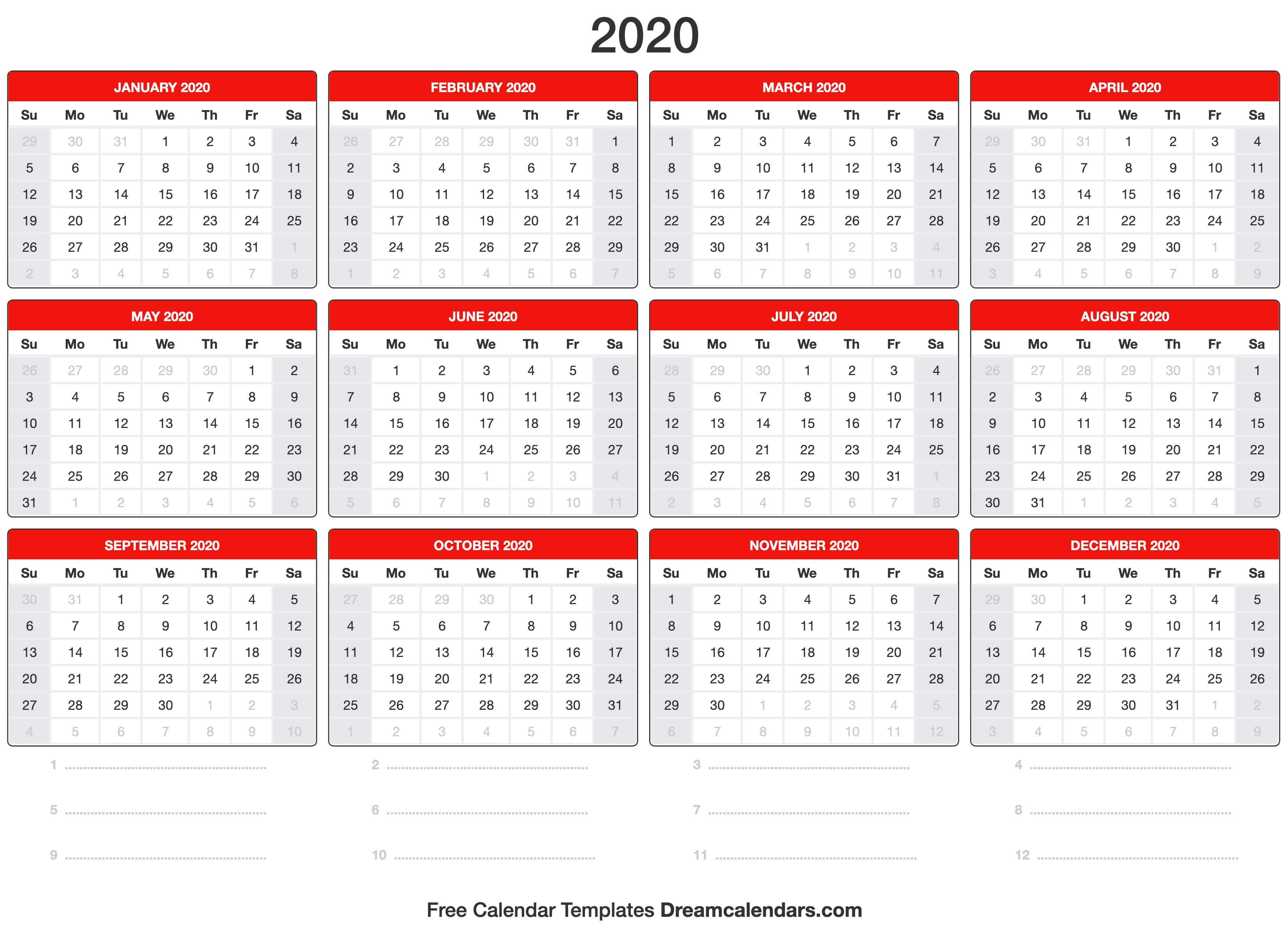 2020 Calendar Printable Time And Date (1) – 2020 Printable