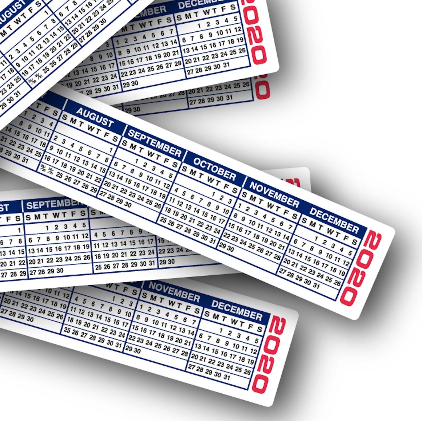 2020 Calendar Strips | Keyboard & Monitor Calendar Strips