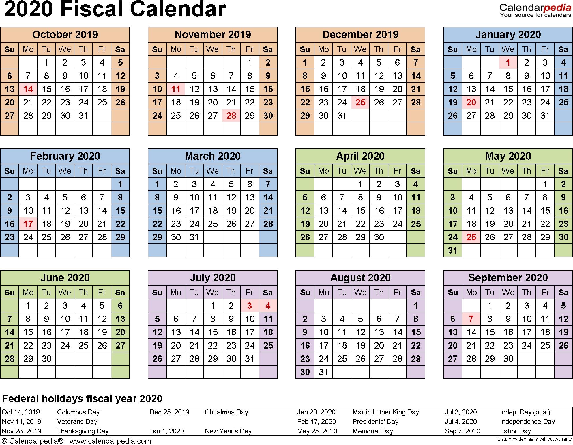 Calendar 2020 Excel Thailand