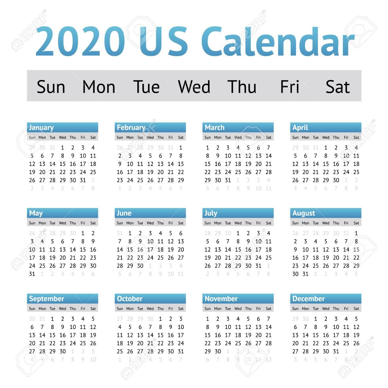 2020 Calendar Us - Wpa.wpart.co