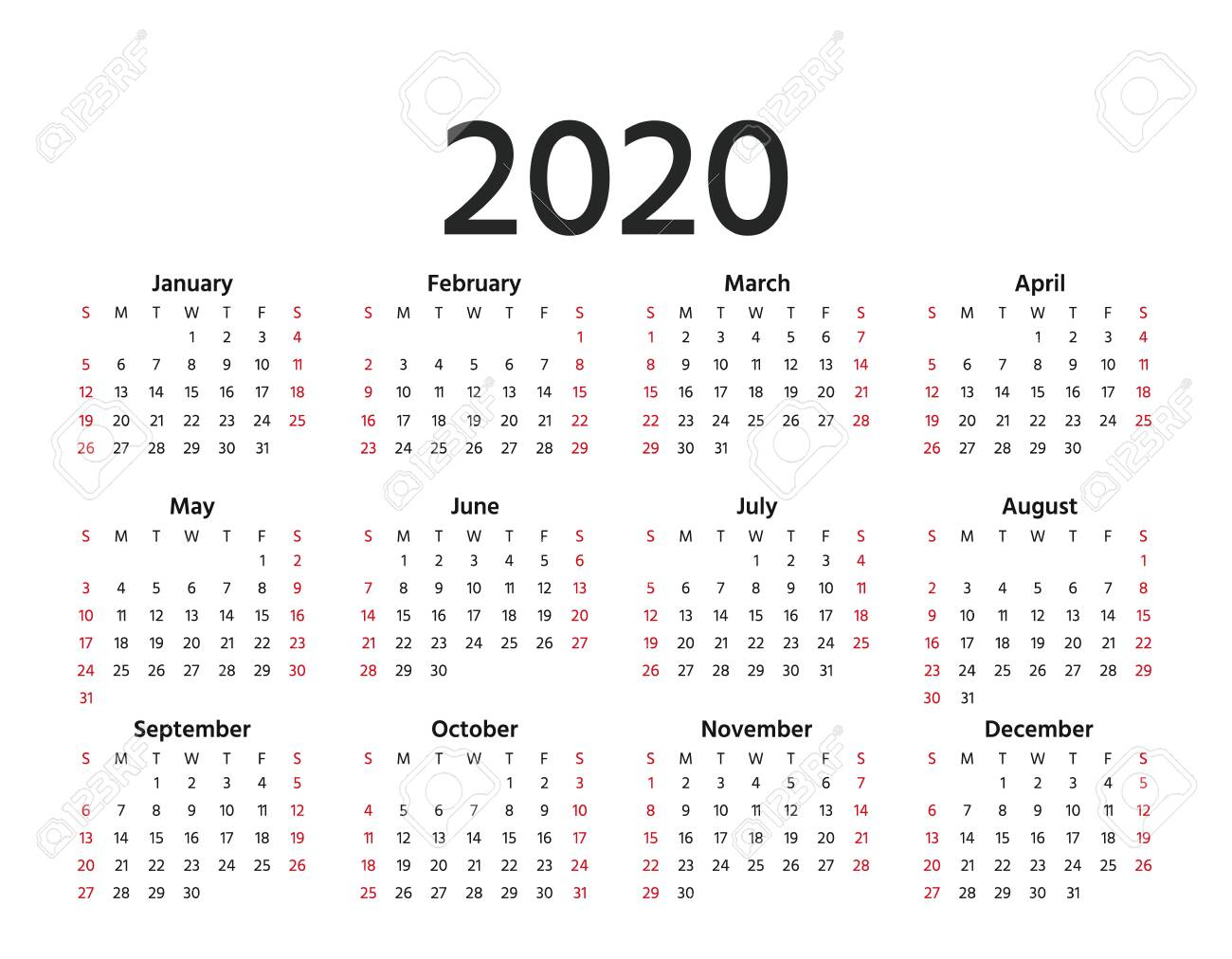 2020 Calendar Weekly - Wpa.wpart.co