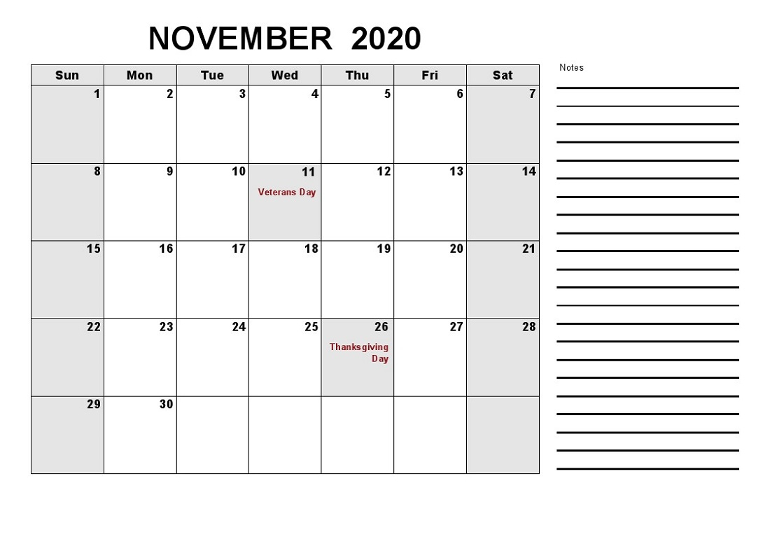 2020 Calendar With Holidays Printable All Months | Calendar
