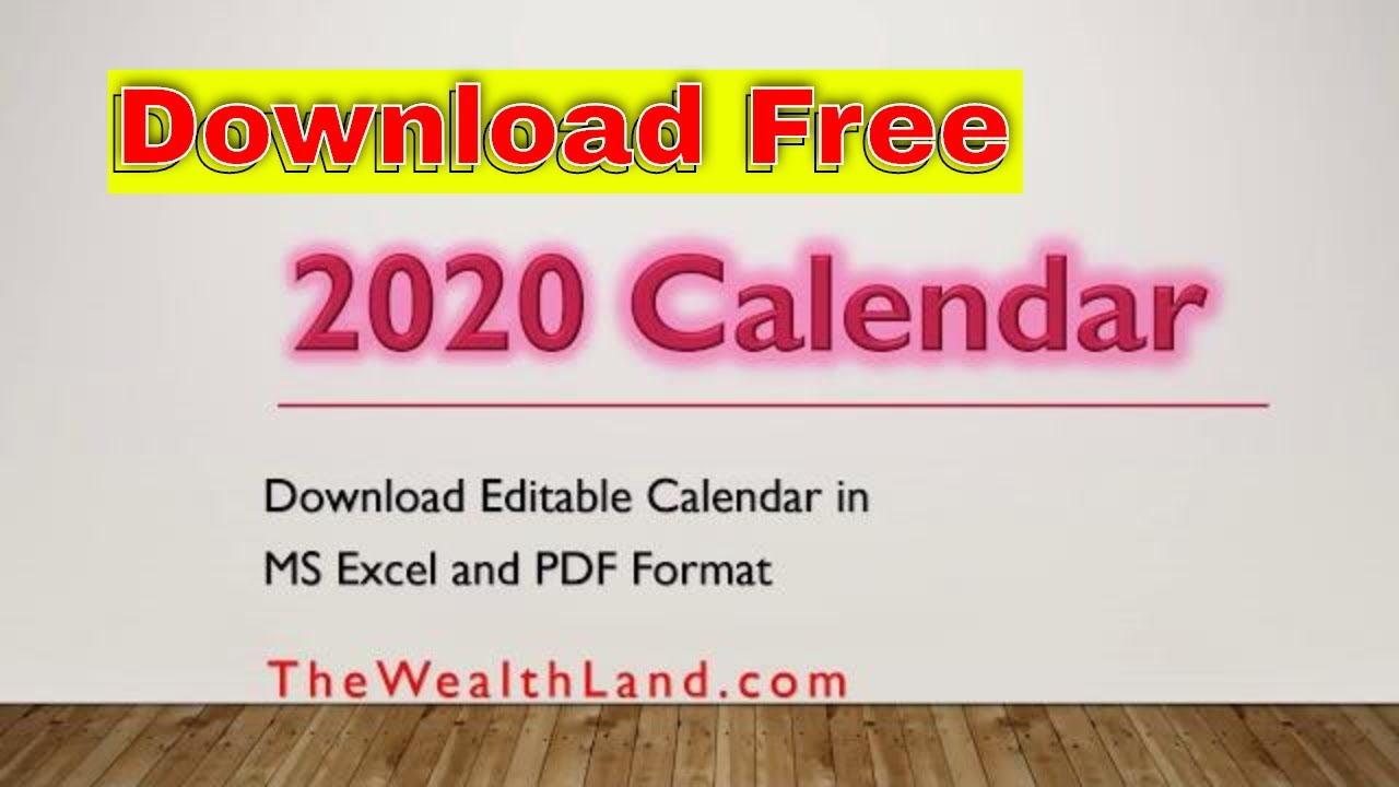 2020 Calendar With Uae Public Holidays Editable 2020 Calendar In United  Arab Emirates