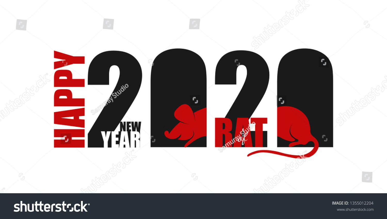2020 Chinese New Year Rat Calendar Stock Vector (Royalty