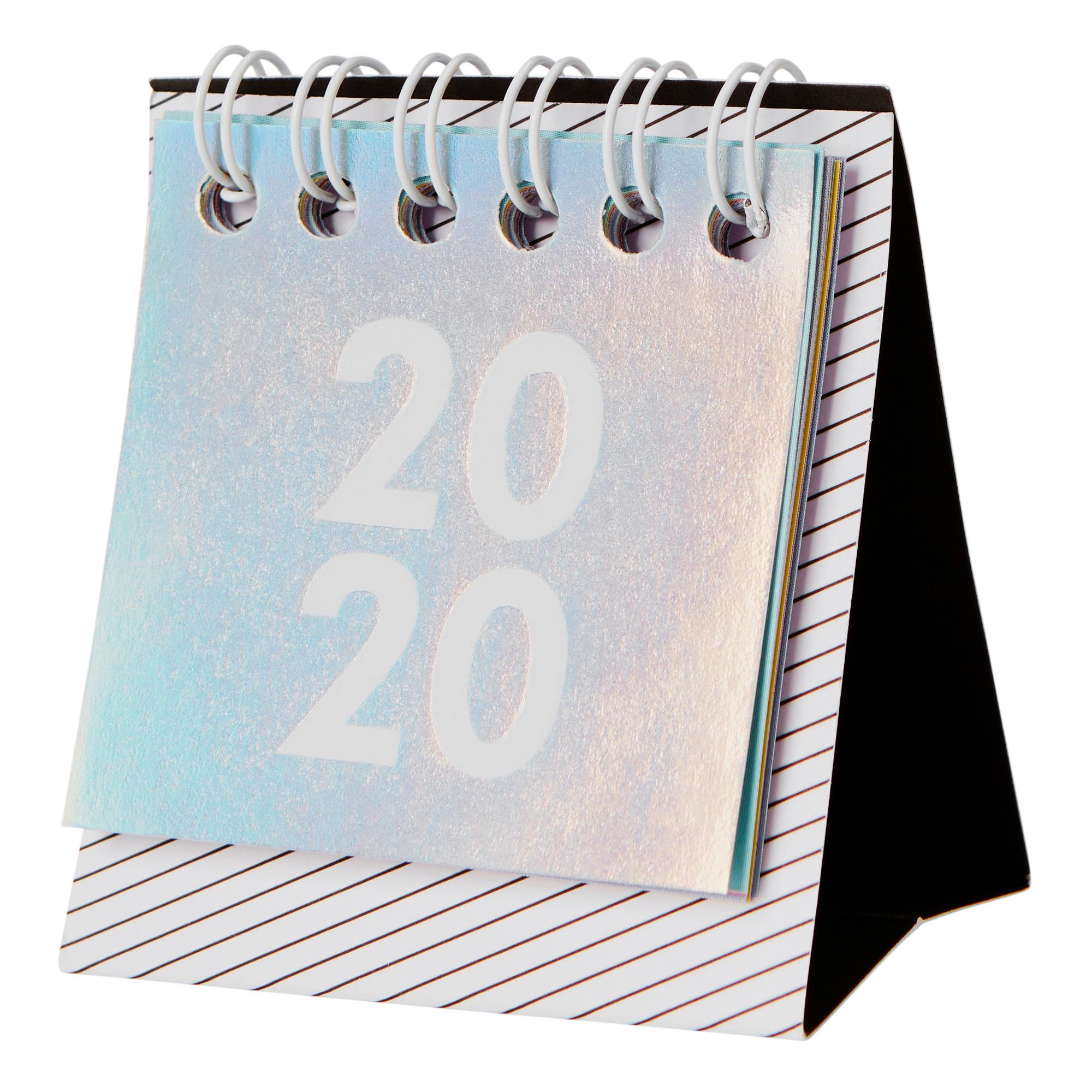 2020 Cute Mini Desk Calendar Holographic: Be Kind