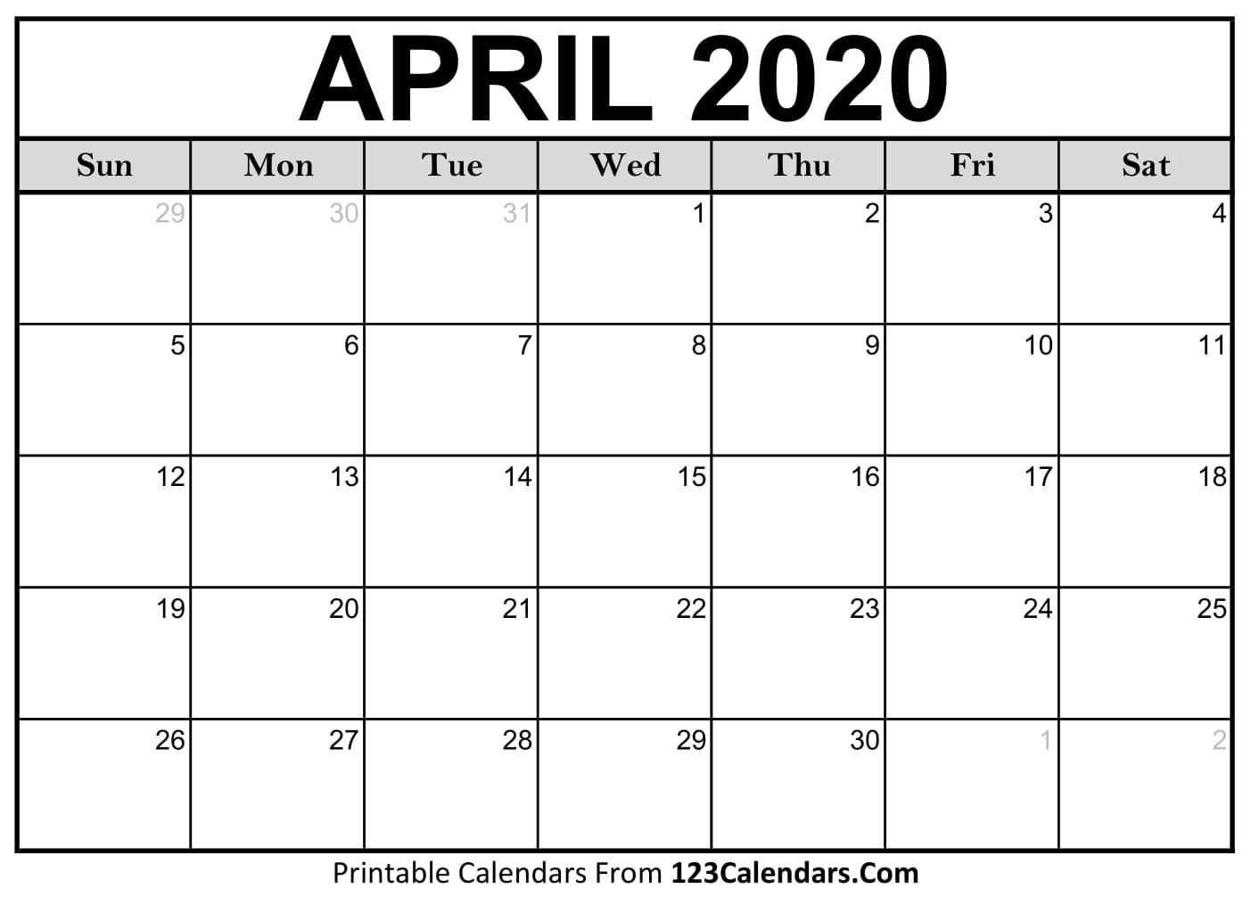 2020 March April Calendar - Wpa.wpart.co
