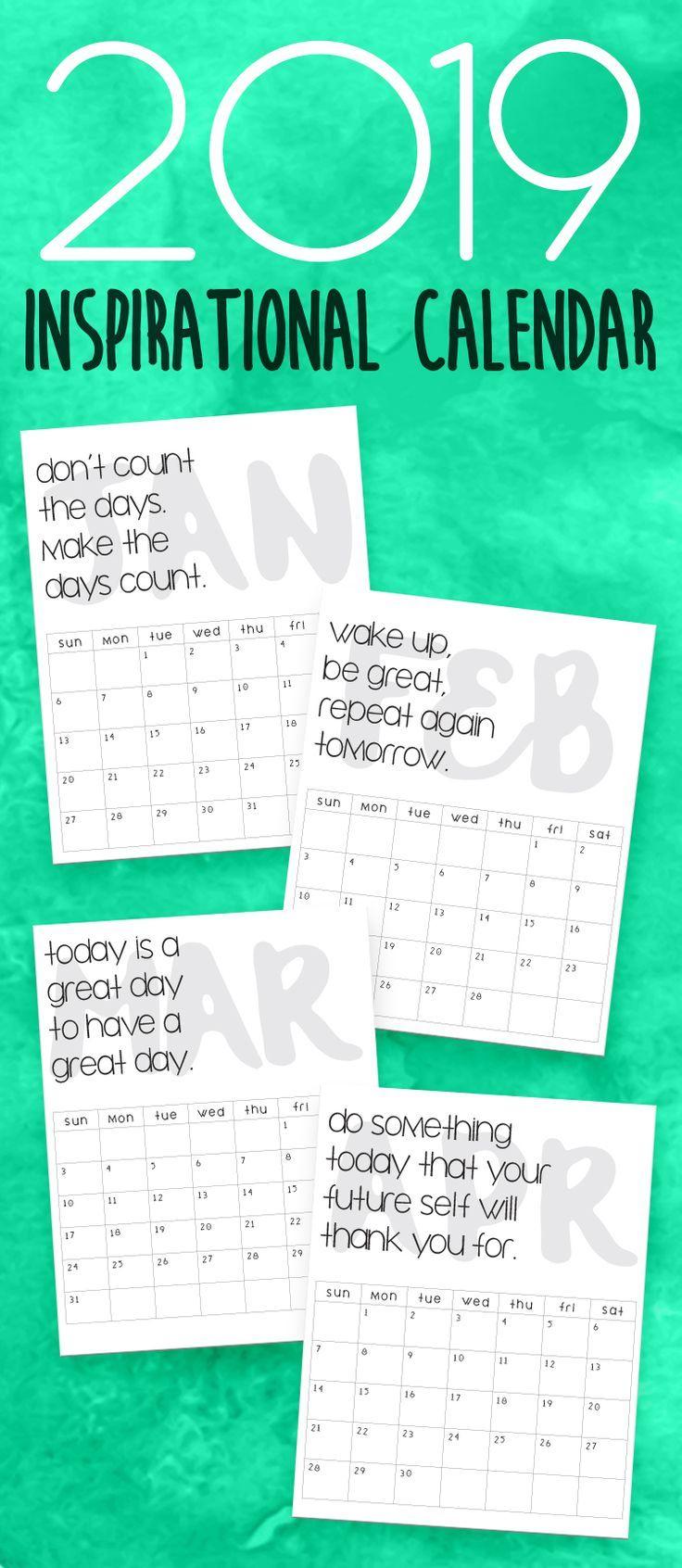 2020 Printable Calendars And Planners | 2019 Calendar