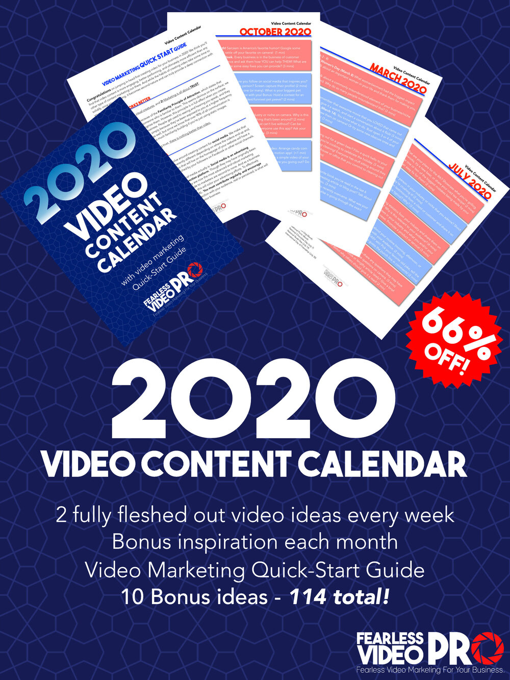2020 Video Content Calendar — Fearless Video Pro