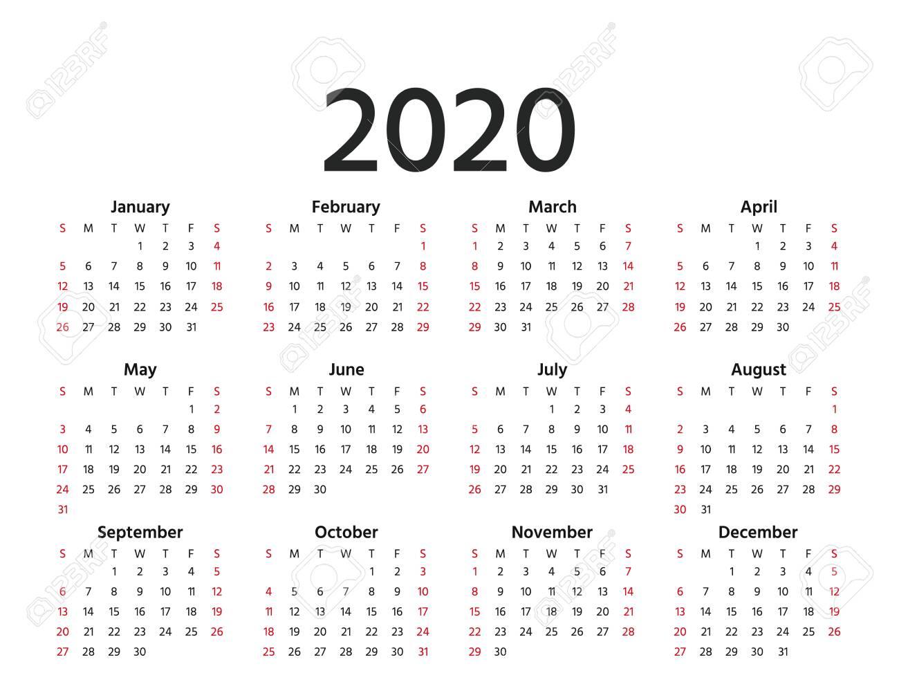 2020 Year Calendar - Wpa.wpart.co