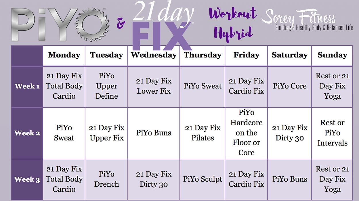 21 Day Fix Calendar – Calendar Yearly Printable