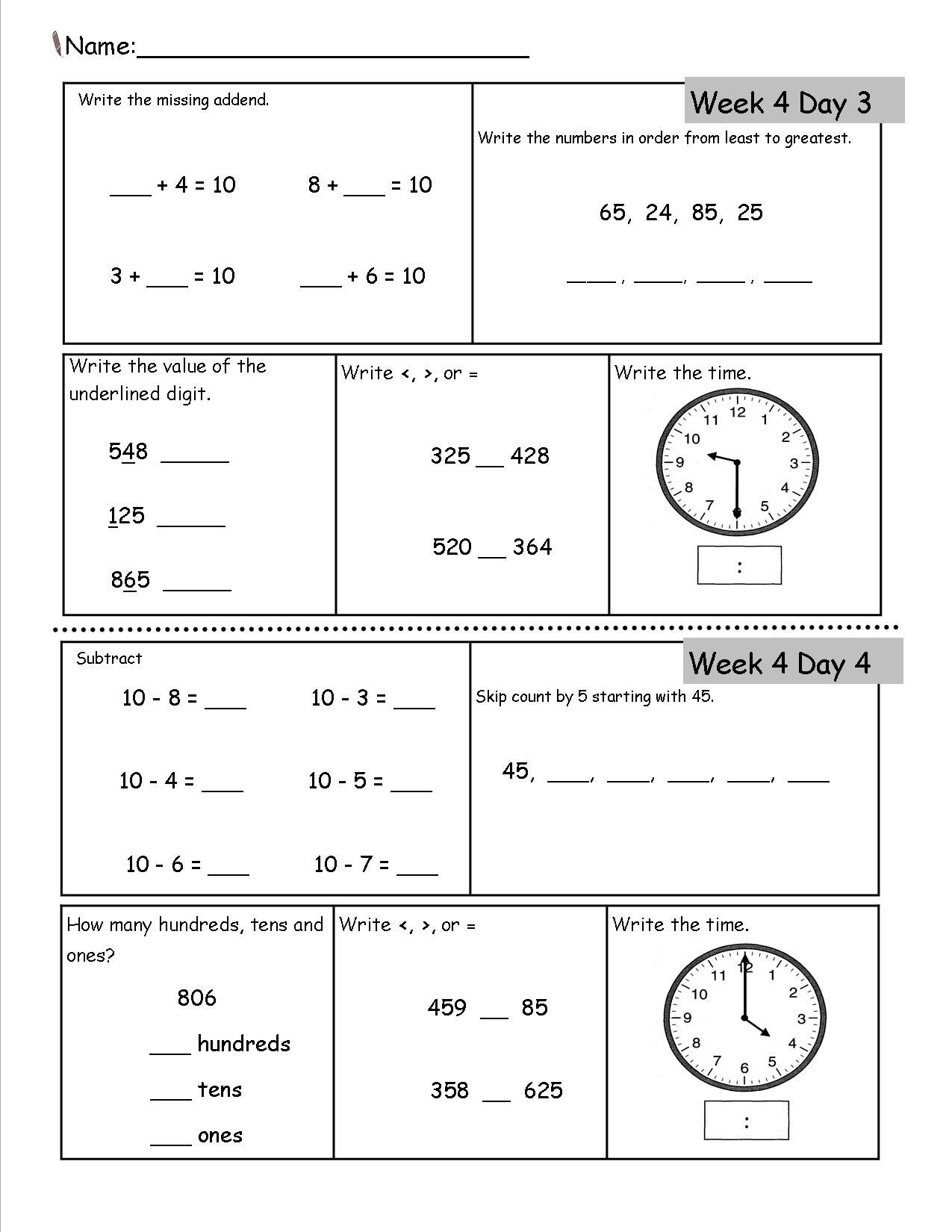 2Nd Grade Worksheets | 2Nd Grade Math Worksheets, 2Nd Grade