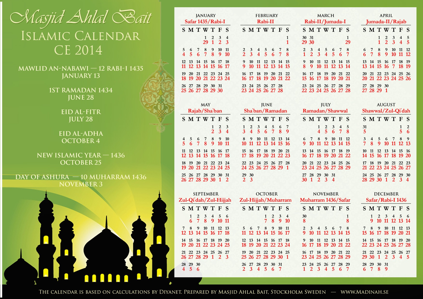 3 Blessed Days In Islamic Calendar - Quran O Sunnat