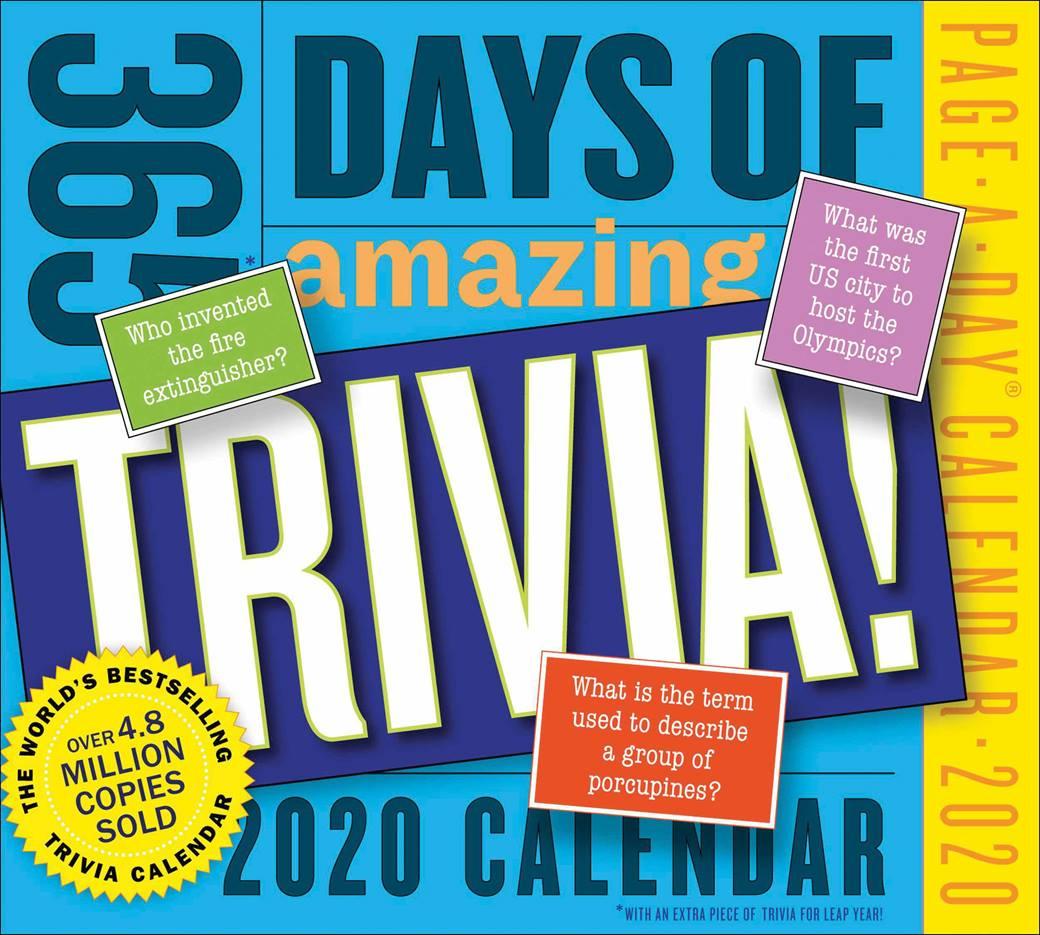 365 Days Of Amazing Trivia Desk Calendar 2020