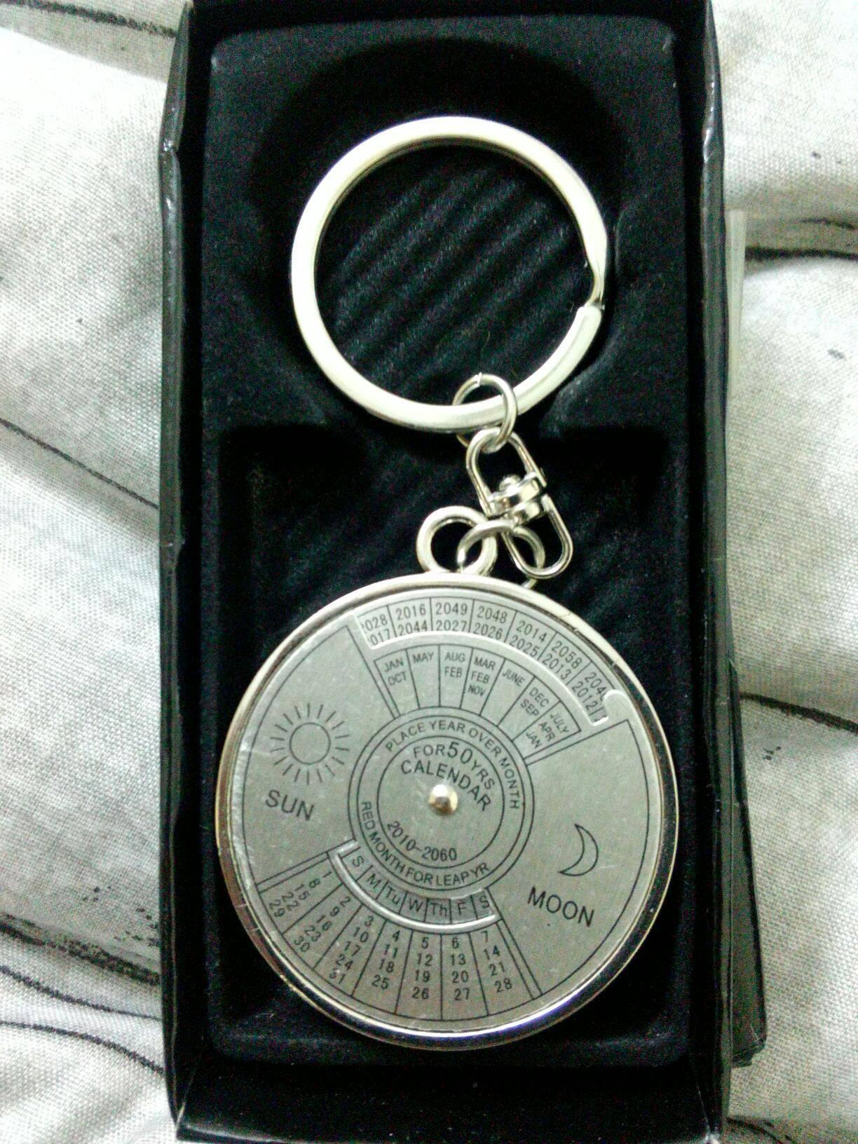 50 Years Calendar Keychain - Silver