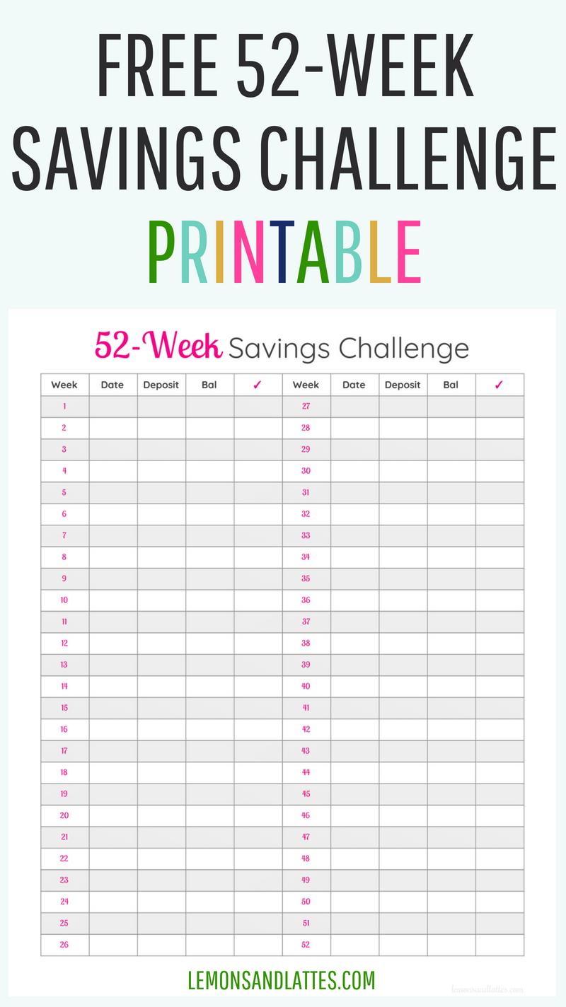 52-Week Money Challenge Printables 2020 | Money Challenge