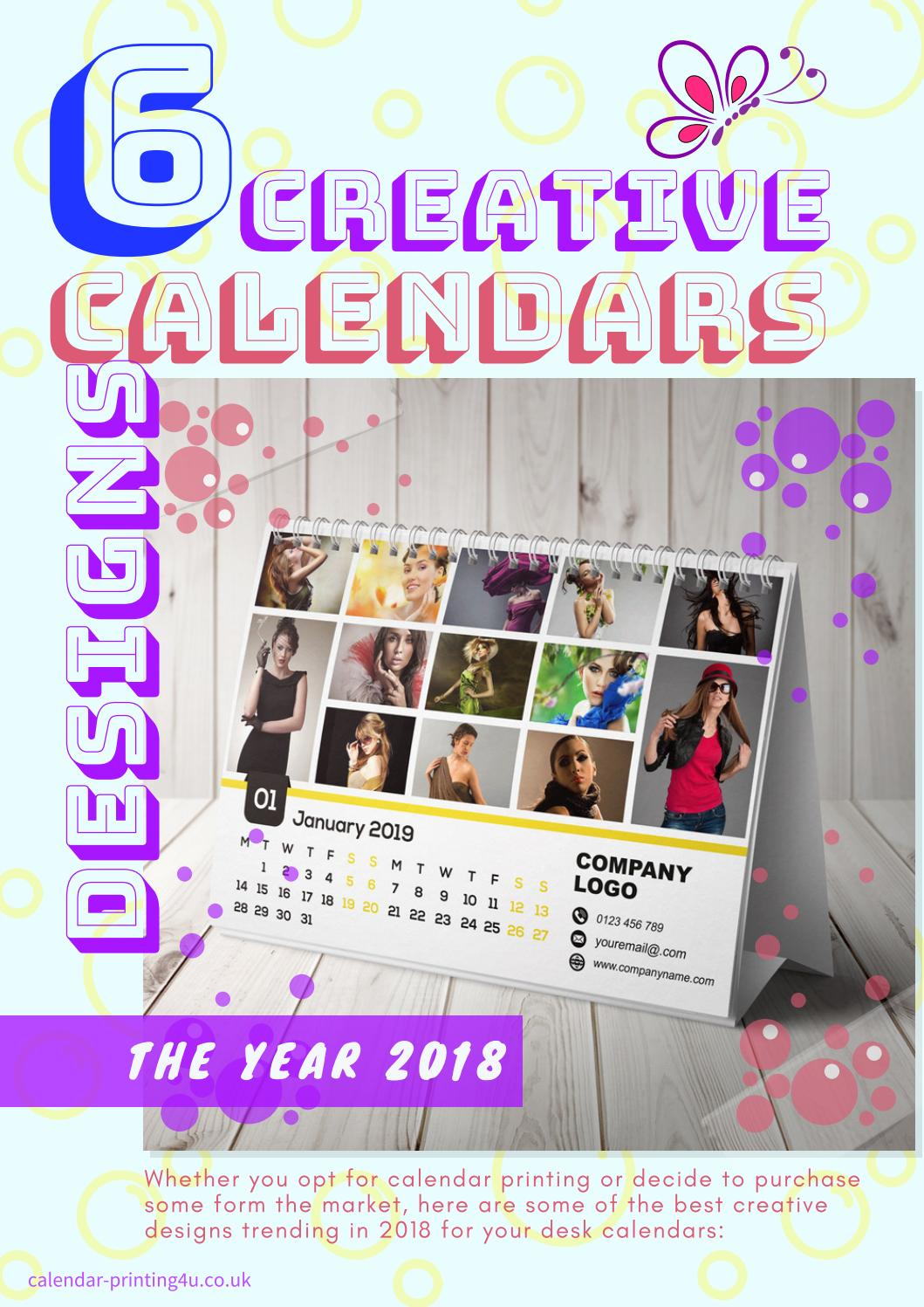 6 Creative Calendar Design Ideas For Your Desk For The Year