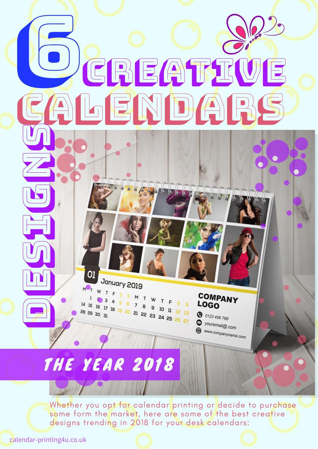 6 Creative Calendar Design Ideas For Your Desk For The Year