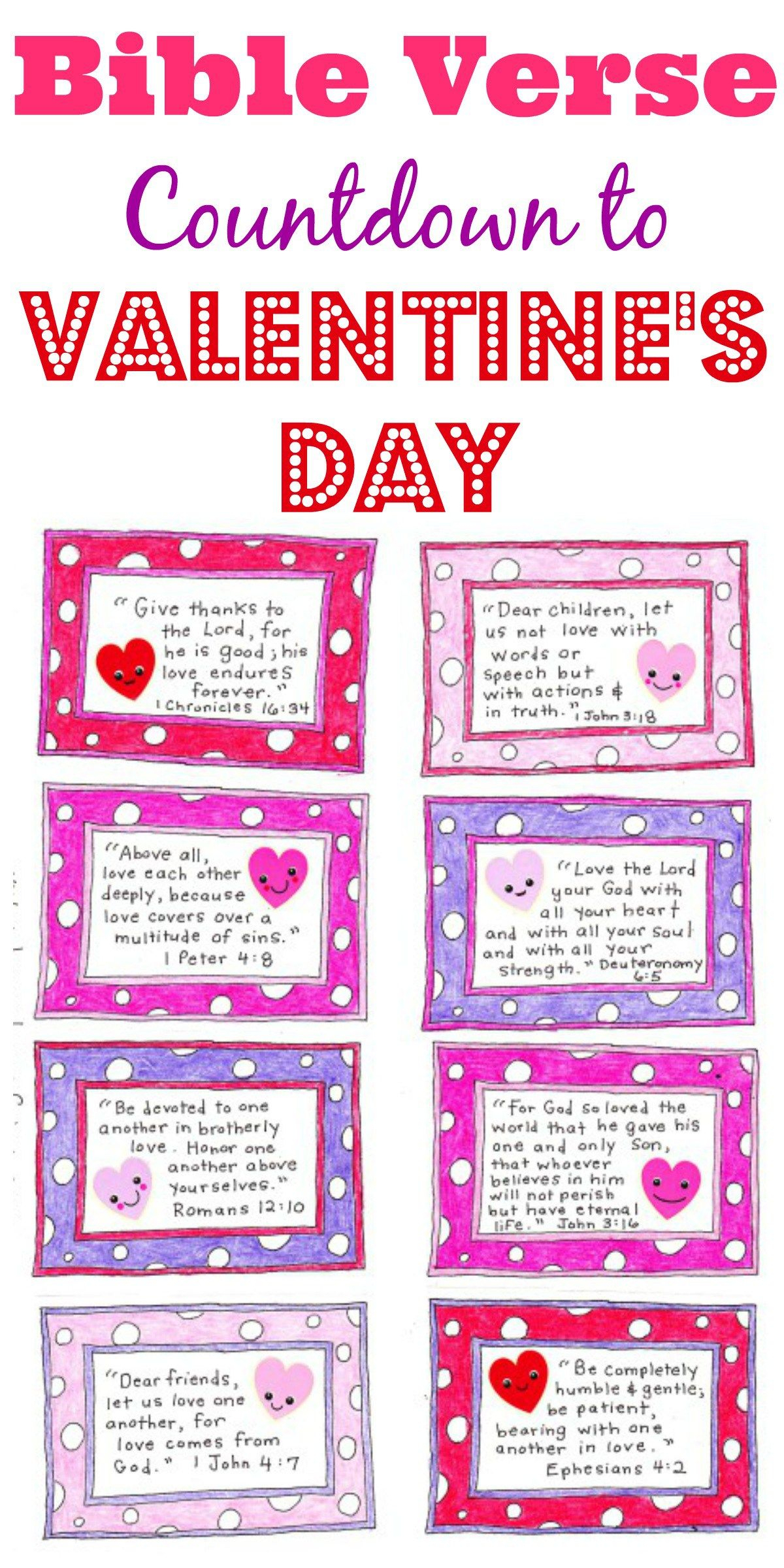 A Valentine's Day Countdown - Free Printable | Valentines