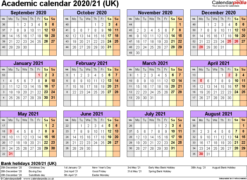 Academic Calendar 2020 17 - Yeter.wpart.co