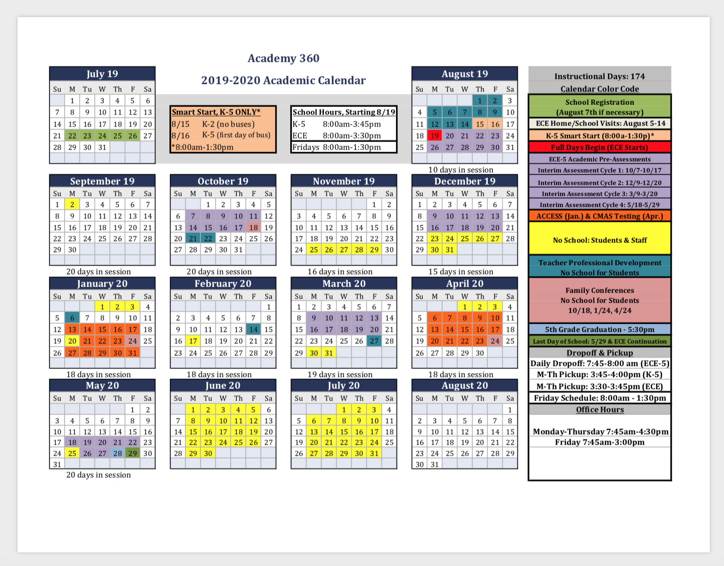 Academic Calendar 2020 2020 - Wpa.wpart.co