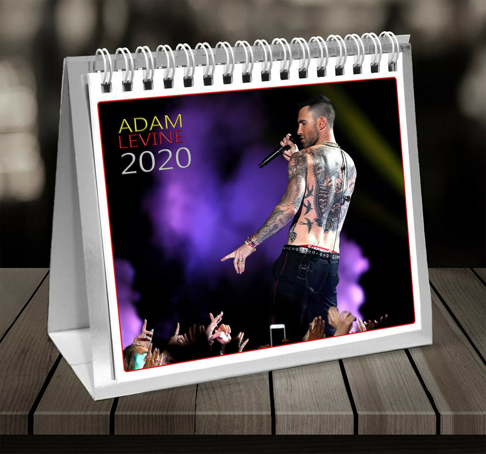 Adam Levine Maroon 5 2020 Desktop Calendar *on Special*